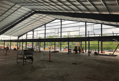 Expo 1 structural steel erection progress
