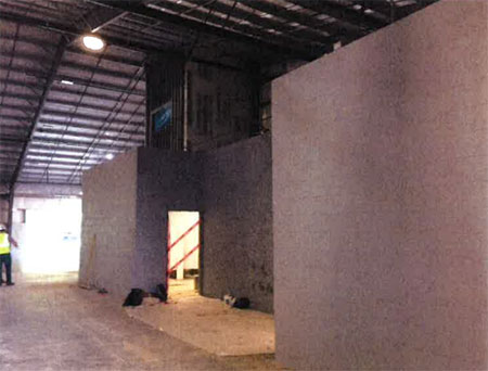 Expo 3 interior with walls